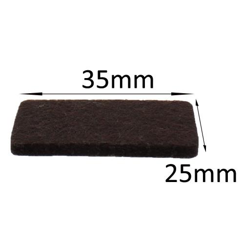 25mm X 35mm Self Adhesive Furniture Felt Pads Protect
